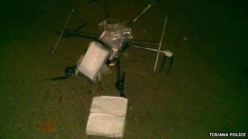 Mexican drone crash