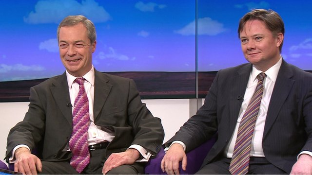 Nigel Farage and Iain Wright