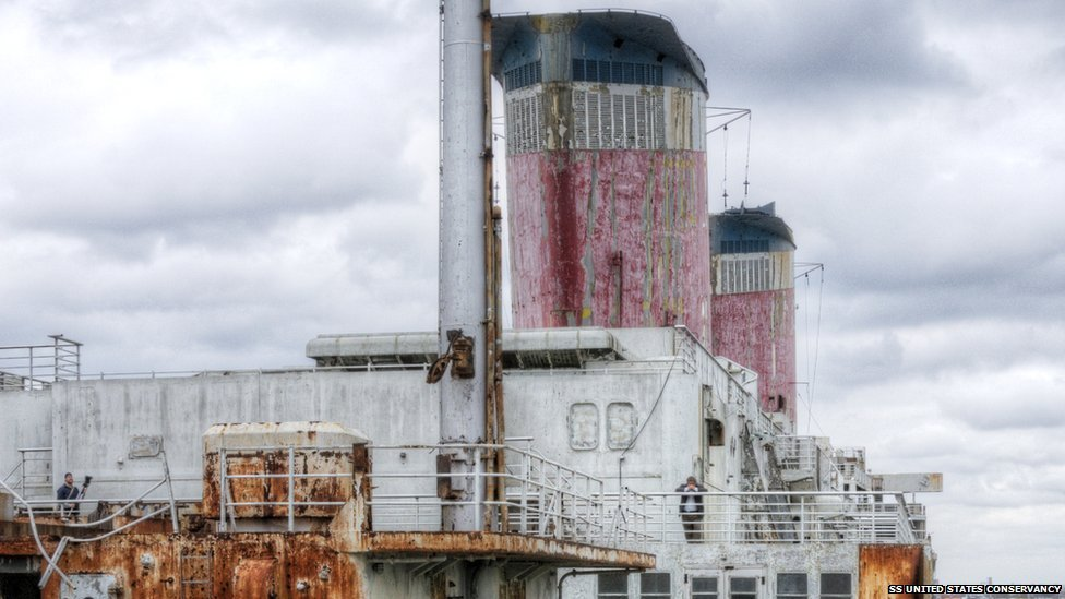 The decks of the SS United States as she is today