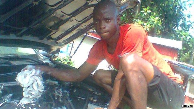Fullah - car washer from Sierra Leone