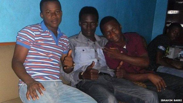 Ibrahim Barri and his friends