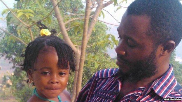 Ramadan and his daughter Adama