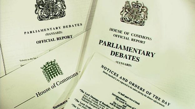 A compilation of parliamentary papers including Hansard