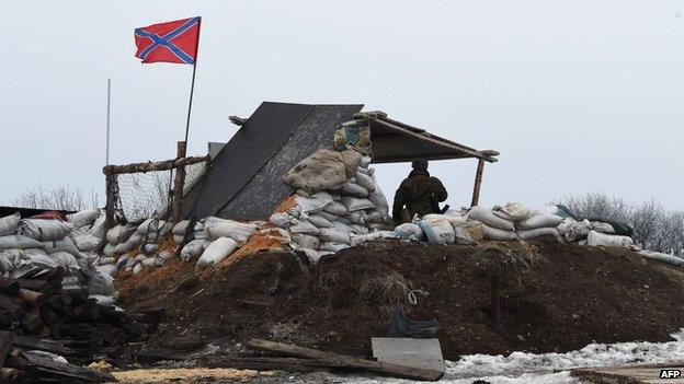 Rebel position near Debaltseve, 29 Jan 15