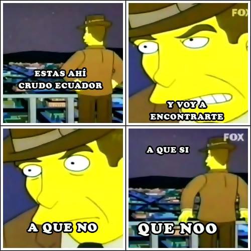 Meme about the search of Crudo Ecuador