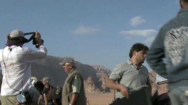 Filmmakers on location in Jordan