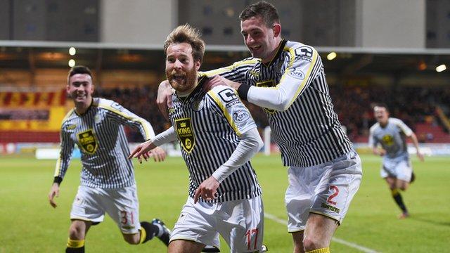 James Dayton celebrates his winning goal