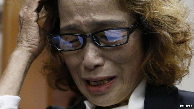 Junko Ishido, mother of Japanese journalist Kenji Goto