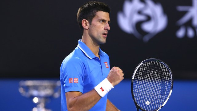 Novak Djokovic takes first set in final