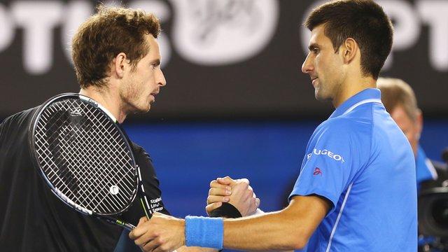 Novak Djokovic (r) beats Andy Murray to win the 2015 Australian Open