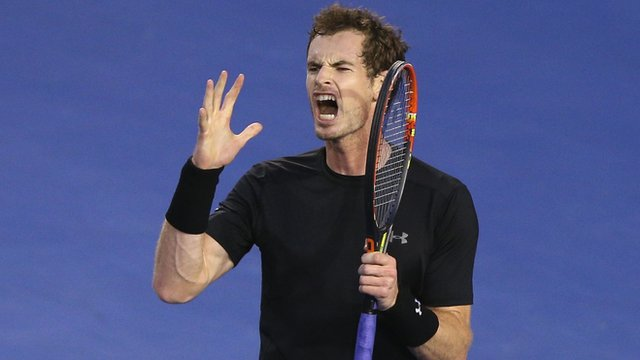 Andy Murray during the 2015 Australian Open final