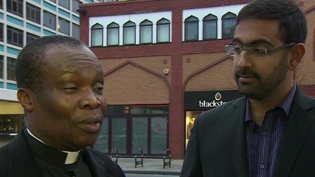 The Reverend Fred Ashford-Okai and Miqdaad Versi