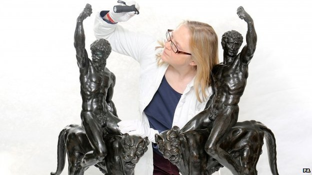 Dr Victoria Avery and bronze sculptures