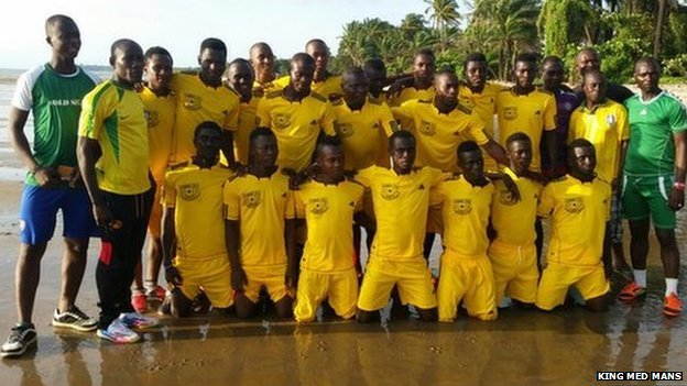 King Med Mans' football team in Sierra Leone