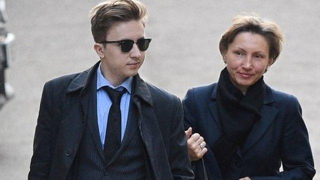 Marina Litvinenko and her son Anatoly