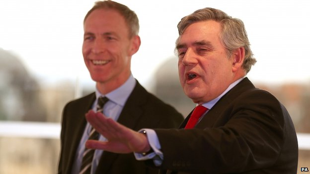 Jim Murphy and Gordon Brown