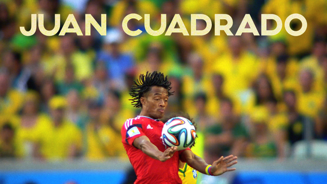 Juan Cuadrado at the 2014 Fifa World Cup in Brazil
