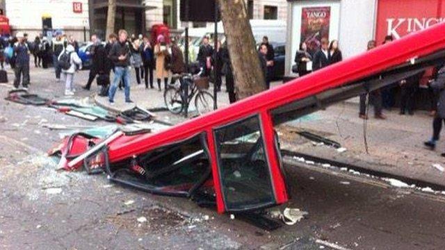 Bus crash in London
