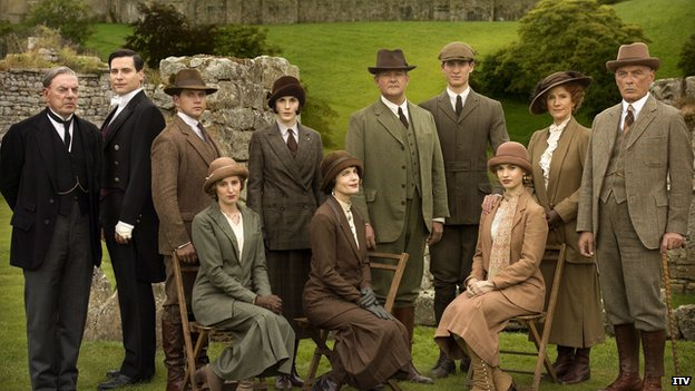 Some of the cast of Downton Abbey
