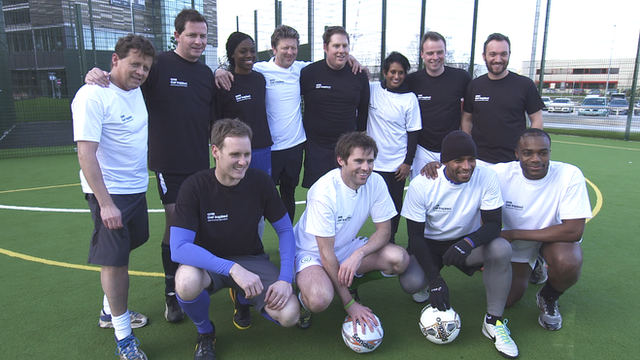 BBC Breakfast and BBC Sport 5 aside teams