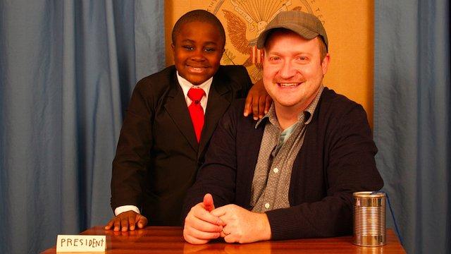 Kid President team Robby Novak and Brad Montague