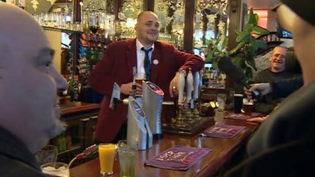 Al Murray on the campaign trail in South Thanet