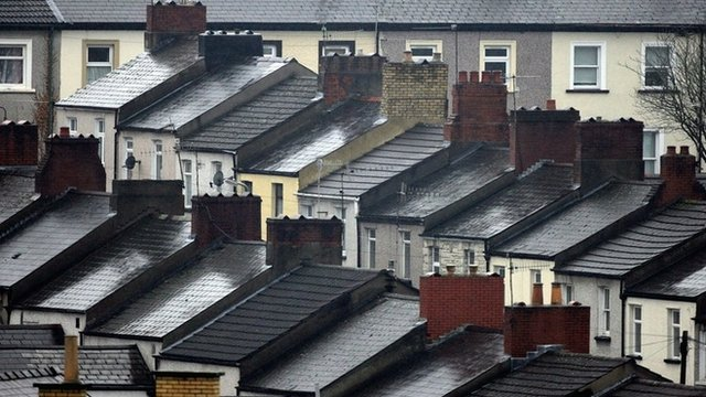 File picture of rooftops in Newport
