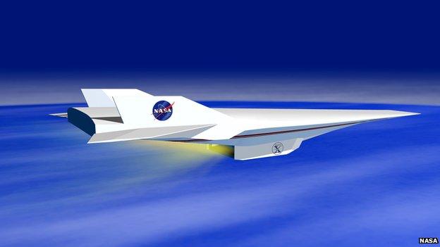 Nasa X-43A Hyper-X concept plan