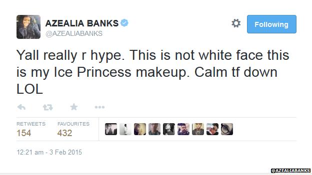 Azealia Banks Twitter page