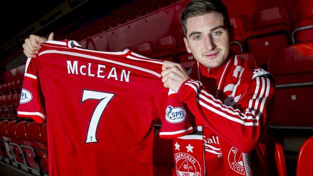 Aberdeen forward Kenny McLean