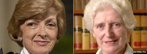 Fiona Woolf and Baroness Butler-Sloss