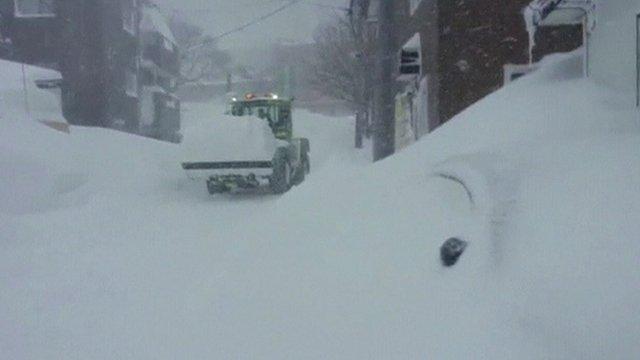 Heavy snow in Japan