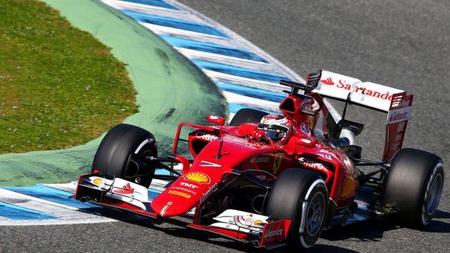 Ferrari testing in Jerez
