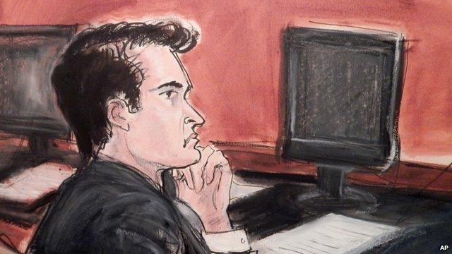 Ross Ulbricht - court drawing