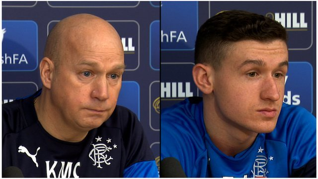 Rangers manager Kenny McDowall and player Fraser Aird