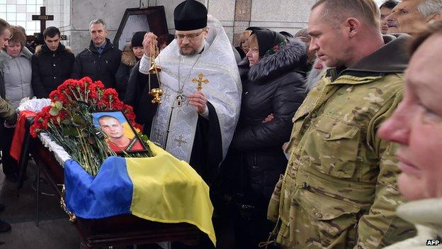 Soldier's funeral in Kiev, 2 Feb 15