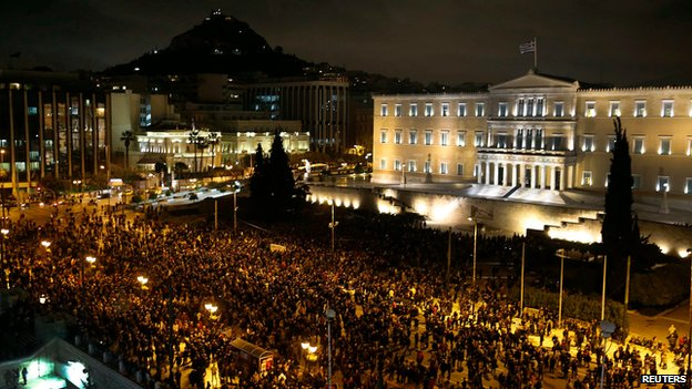 Demonstration in Athens, 5 February 2015