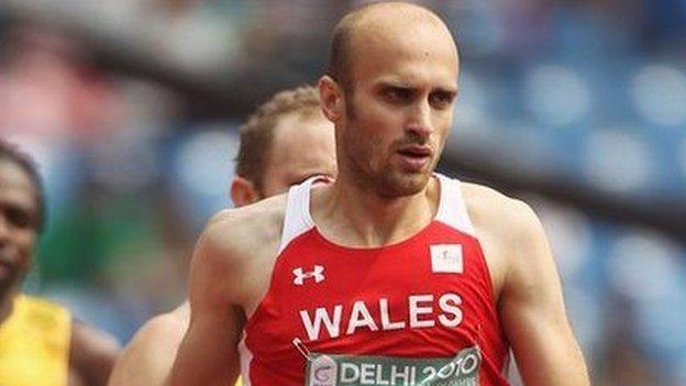 Mae Gareth yn anelu i ennill medal i Gymru yng Ngemau'r Gymanwlad yn Awstralia yn 2018