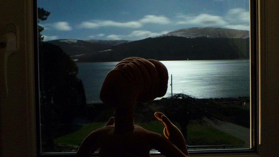 ET looking over Loch Long