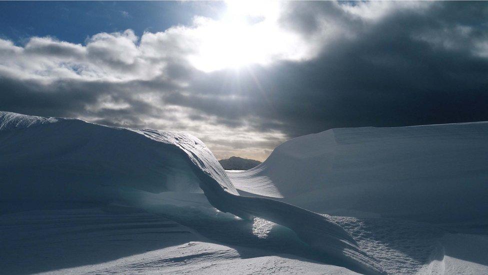 Unusual snow formation
