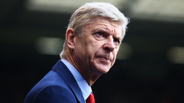 Arsenal manager Arsene Wenger at White Hart Lane