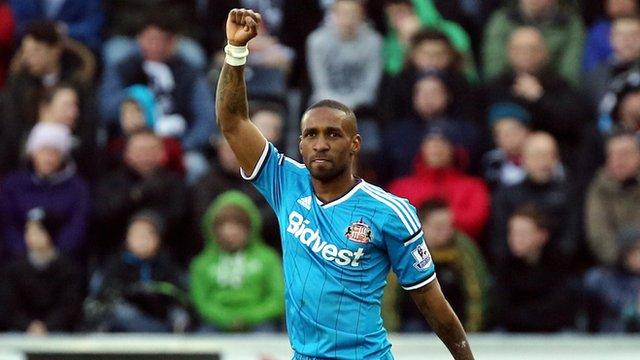 Sunderland goalscorer Jermain Defoe