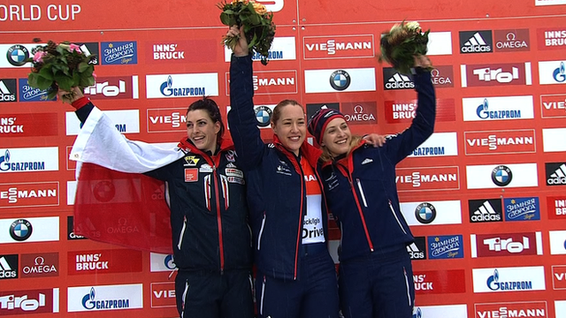 Lizzy Yarnold wins European gold.