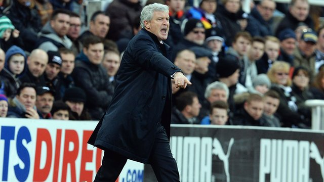 Hughes during his side's draw.