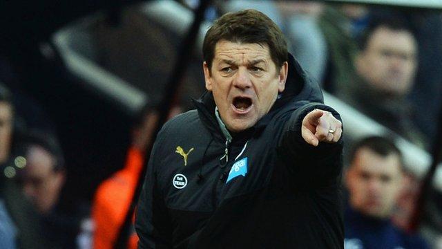 Newcastle head coach John Carver