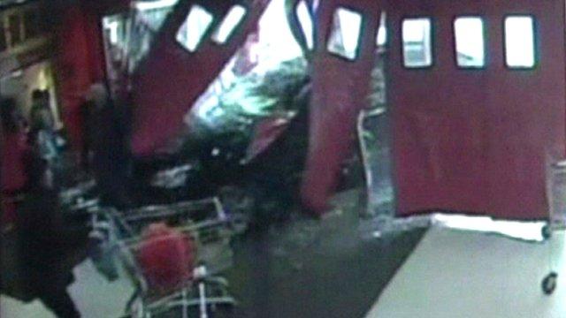 Car crashes into supermarket