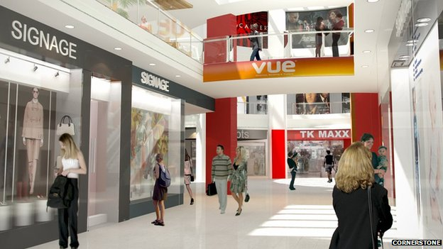 Artists impression of new cinema complex at Ipswich Buttermarket