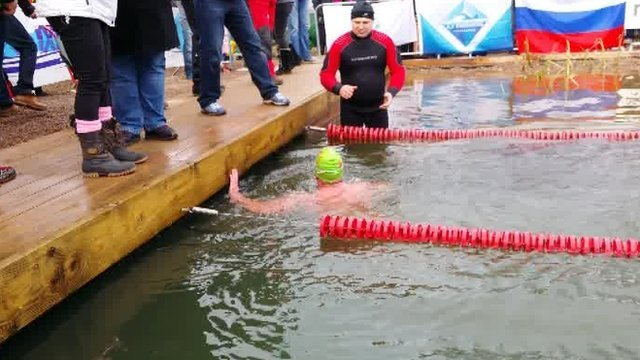 Entrants are required to swim in water colder than 5C