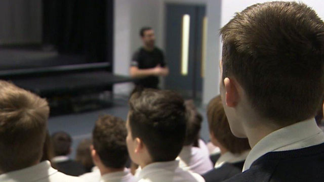 Lecture at Swansea school