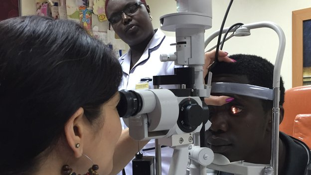 Dr Jyotee Trivedy (L) and Cyrus Mbugua